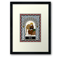 ST GILES, THE ABBOT under STAINED GLASS Framed Print