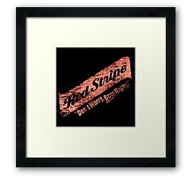 Don't Worry Red Stripe Beer Happy Framed Print