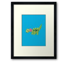 Pink ribbon Dino Framed Print