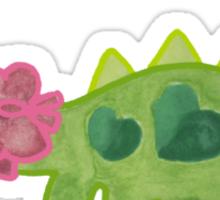 Pink ribbon Dino Sticker