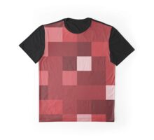 Abstraction #139 Red Blocks Graphic T-Shirt
