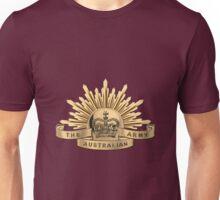 Australian Army Badge over Red Velvet Unisex T-Shirt