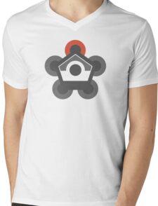 Battle Frontier Greyscale Mens V-Neck T-Shirt