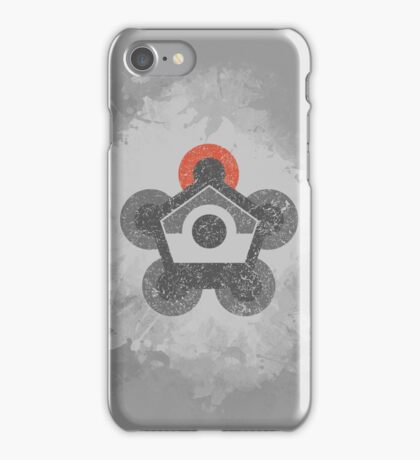 Battle Frontier Greyscale (Distressed) iPhone Case/Skin