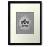 Battle Frontier Greyscale (Distressed) Framed Print