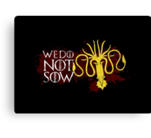 We Do Not Sow - House Greyjoy Canvas Print