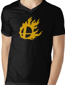 Gold Smash Ball Mens V-Neck T-Shirt