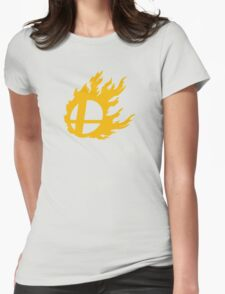 Gold Smash Ball Womens Fitted T-Shirt
