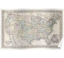 United States Of America Map large Poster