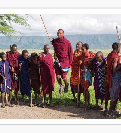 Maasai Traditional Dance Sticker
