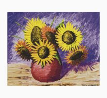 Sunflowers And Vase Still Life Painting Kids Clothes