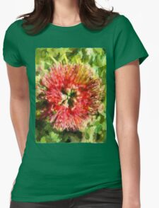 Surreal Red Flower Womens Fitted T-Shirt