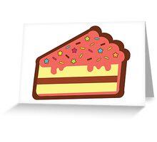 Yellow Cake  Greeting Card