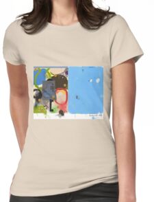 Abstract talk 003 Womens Fitted T-Shirt