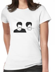 Dan and Phil Silhouette Womens Fitted T-Shirt