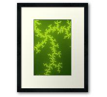 Green Fractal Framed Print