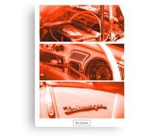 VW Beetle: Burnt Closup's Canvas Print
