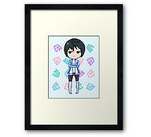 Haruka Nanase + Dolphins Framed Print