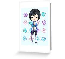 Haruka Nanase + Dolphins Greeting Card