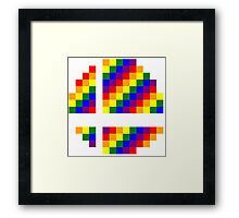 Rainbow 8-Bit Smash Ball Framed Print