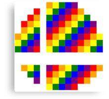 Rainbow 8-Bit Smash Ball Canvas Print