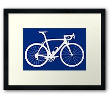 Bike White (Big) Framed Print