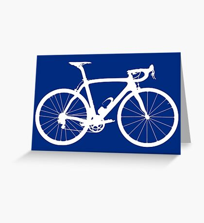 Bike White (Big) Greeting Card