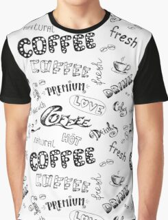 Seamless doodle coffee pattern Graphic T-Shirt