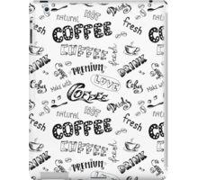 Seamless doodle coffee pattern iPad Case/Skin