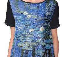 water lilies a la Monet Chiffon Top