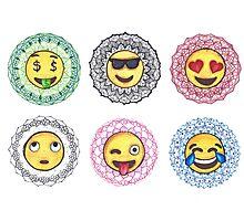 Mandala Emojis Photographic Print