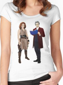 12th Doctor and River Song Women's Fitted Scoop T-Shirt