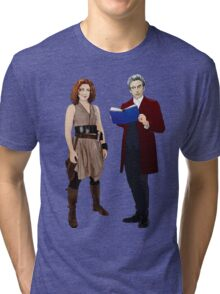 12th Doctor and River Song Tri-blend T-Shirt