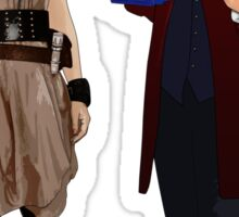 The Doctor and River Song Sticker