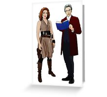 12th Doctor and River Song Greeting Card