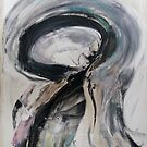 Absence diminishes little passions, Original Abstract painting by Dmitri Matkovsky