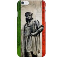 Christopher Columbus Statue with Italian Flag iPhone Case/Skin