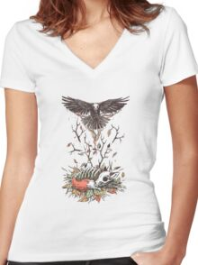 Eternal Sleep Women's Fitted V-Neck T-Shirt