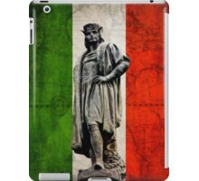 Christopher Columbus Statue with Italian Flag iPad Case/Skin