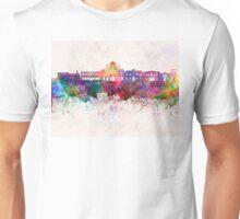 Heraklion skyline in watercolor background  Unisex T-Shirt