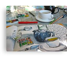 the sketching tea party Canvas Print