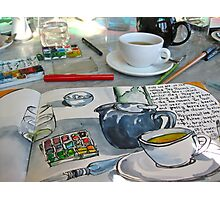 the sketching tea party Photographic Print