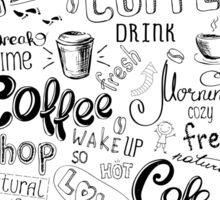 Coffee , hand drawn lettering Sticker