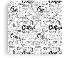 Coffee , hand drawn lettering Canvas Print