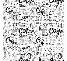 Coffee , hand drawn lettering Photographic Print