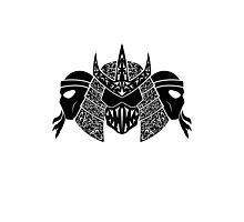 Foot Clan (black) Photographic Print