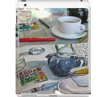 the sketching tea party iPad Case/Skin