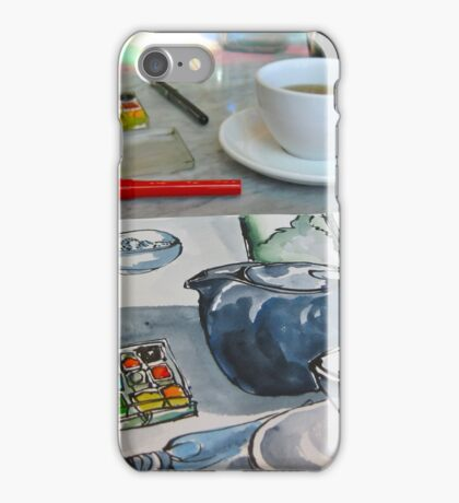 the sketching tea party iPhone Case/Skin