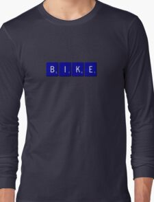 Bike Scrabble (Blue) Long Sleeve T-Shirt