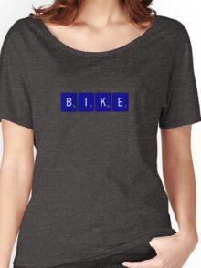 Bike Scrabble (Blue) Women's Relaxed Fit T-Shirt